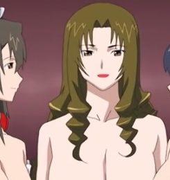 【エロアニメ動画】巨乳熟女の味を覚えた男が熟女たちとハーレムセックス